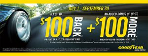 Goodyear Credit Card - Up to $100 Back on Select Tires