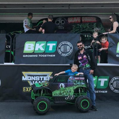 Child-in-Toy-Grave-Digger-at-Rice-Tire-event