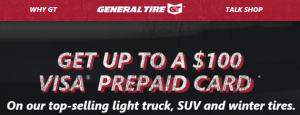 Get Up To A 100 Visa Prepaid Card General Tire