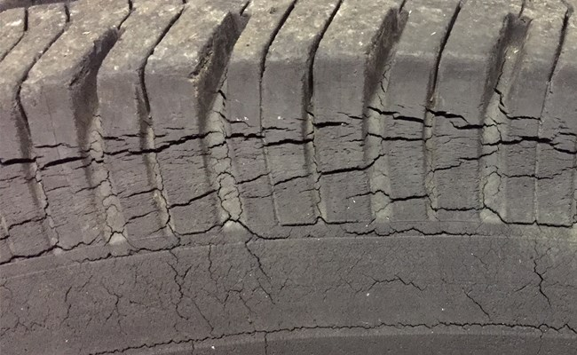 Rice Tire Dry rotted tires