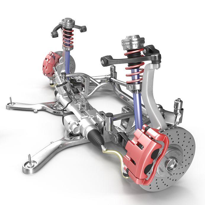 Rice Tire Strut Suspension diagram