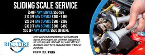 Sliding Scale Service Coupon