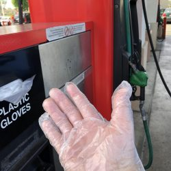 Covid 19 rice tire Disposible Gloves COVID-19 CORONAVIRUS - Staying Safe at the Pumps